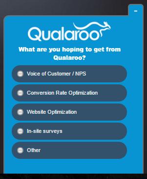 A survey on Qualaroo