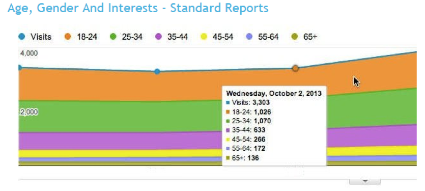Audience Report from Google Analytics