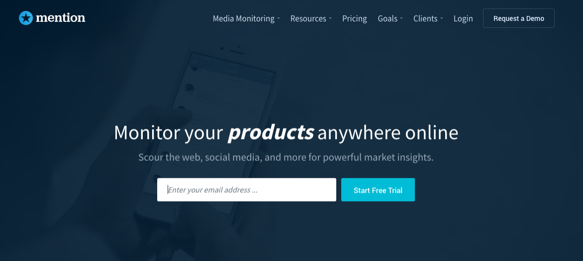 Homepage of mention