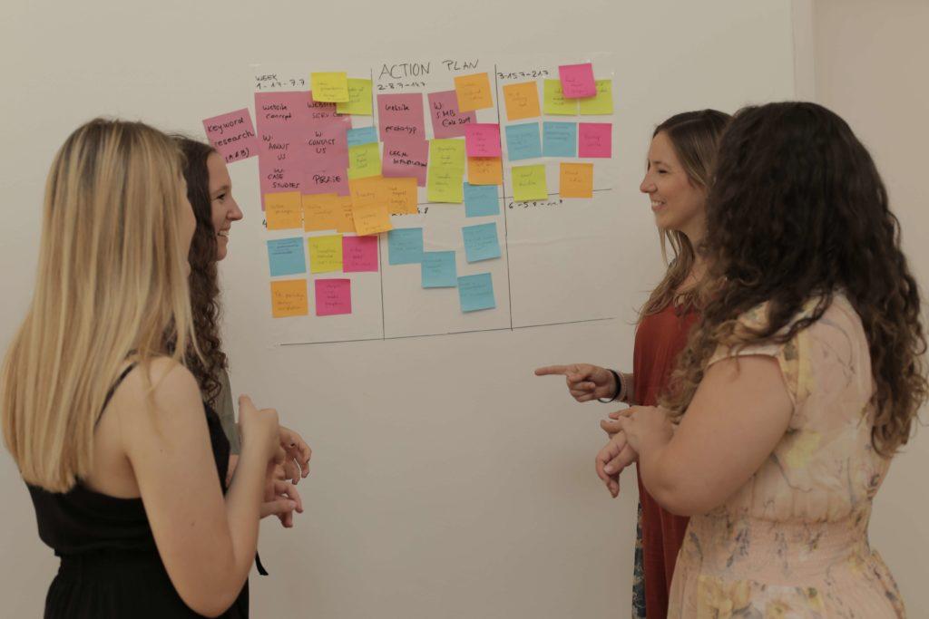 weBOUND team strategizing as part of Anja's Internship