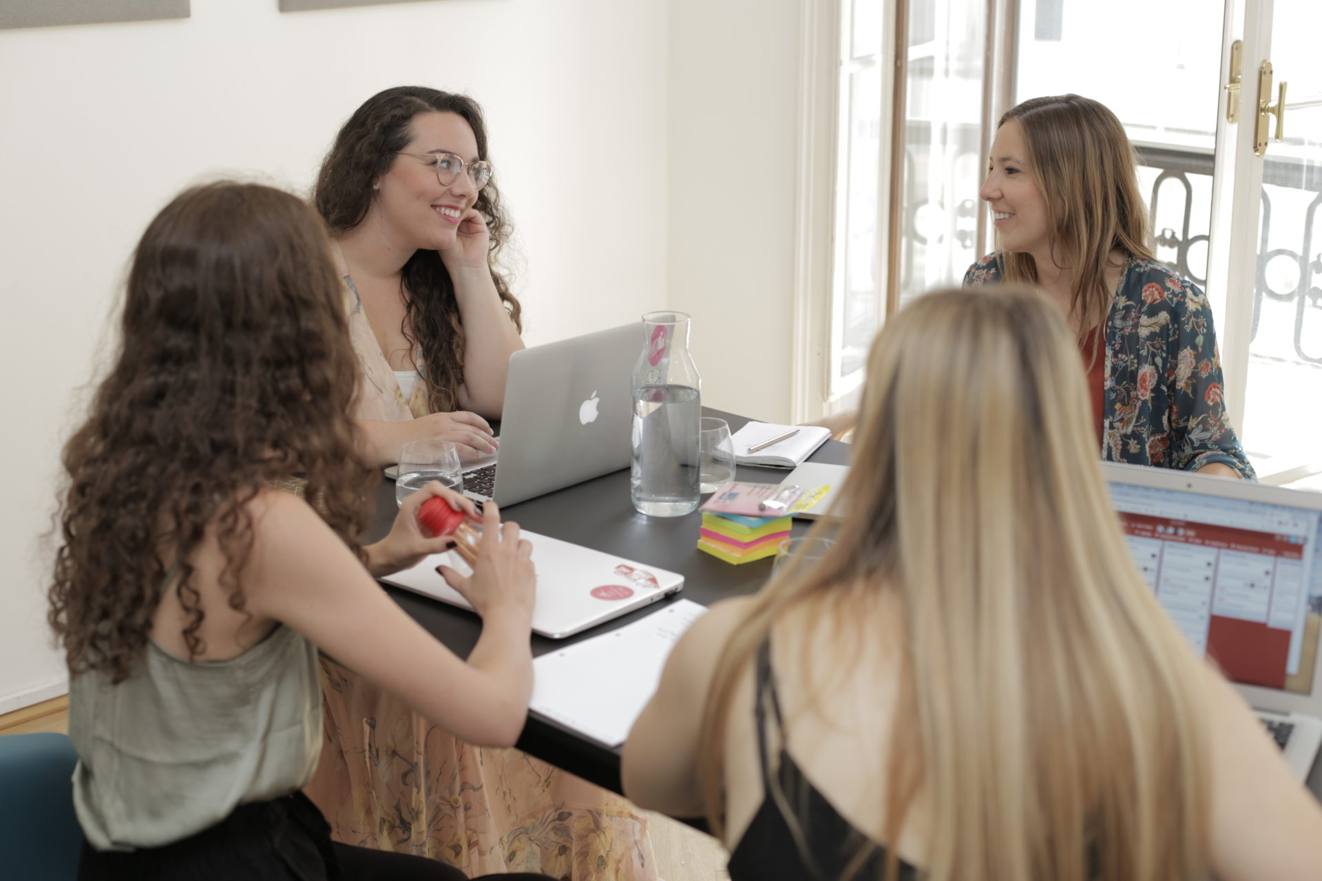 The weBOUND agency Team having a meeting
