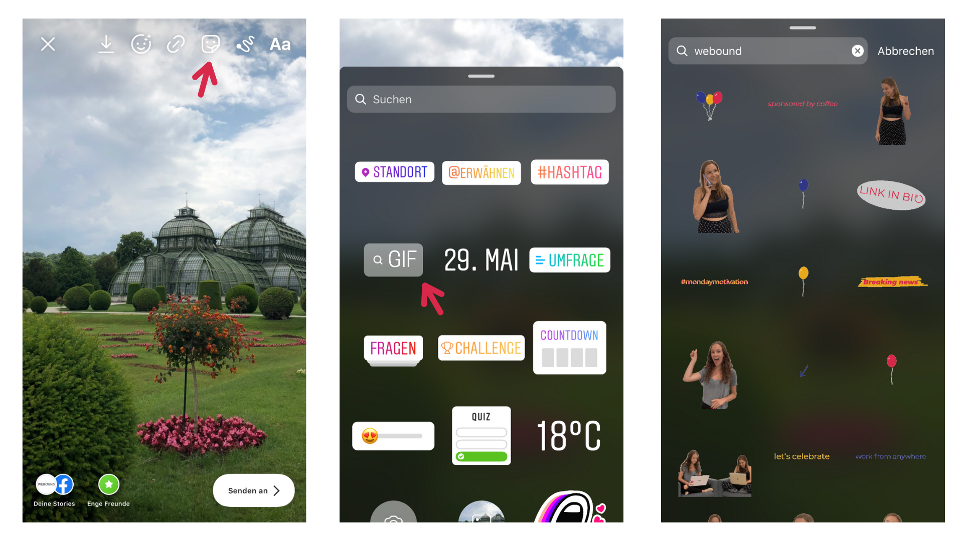 How to use weBOUND Instagram GIF Stickers