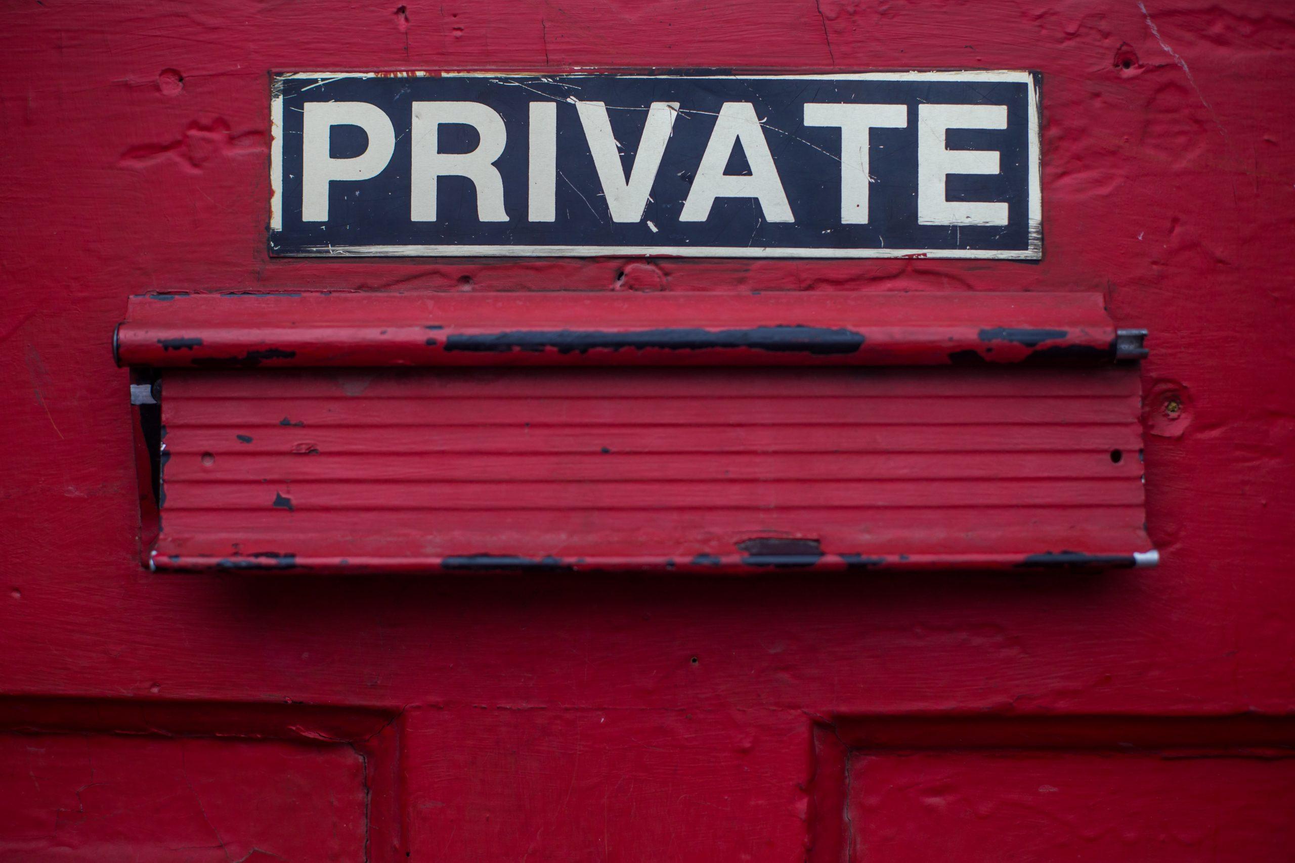 """Türschild """"Privat"""""""