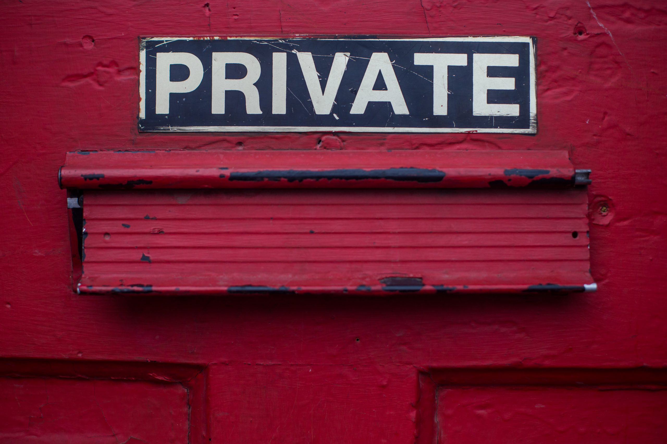 """Doorsign reading """"Private"""""""