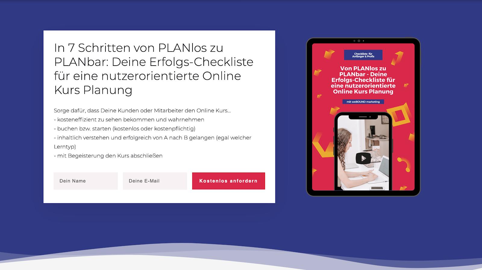 Von PLANlos zu PLANbar: Deine Erfolgs-Checkliste für eine nutzerorientierte Online Kurs Planung